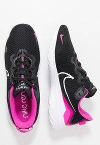 Nike Performance - RENEW RIDE  - Obuwie do biegania treningowe - black/white/fire pink/anthracite - 1