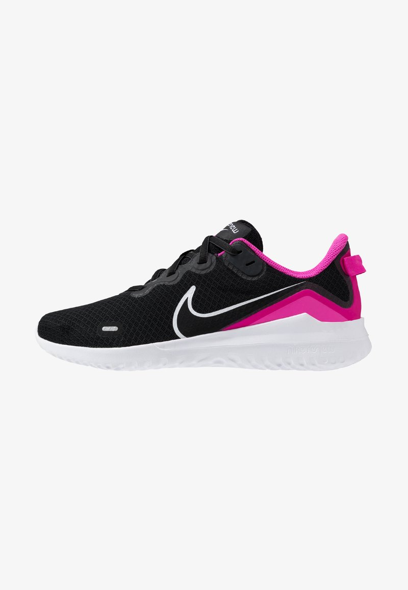 Nike Performance - RENEW RIDE  - Obuwie do biegania treningowe - black/white/fire pink/anthracite