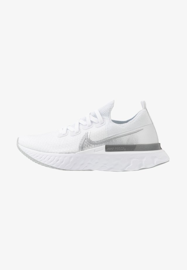 REACT INFINITY RUN  - Neutrale løbesko - true white/metallic silver/white/pure platinum/wolf grey