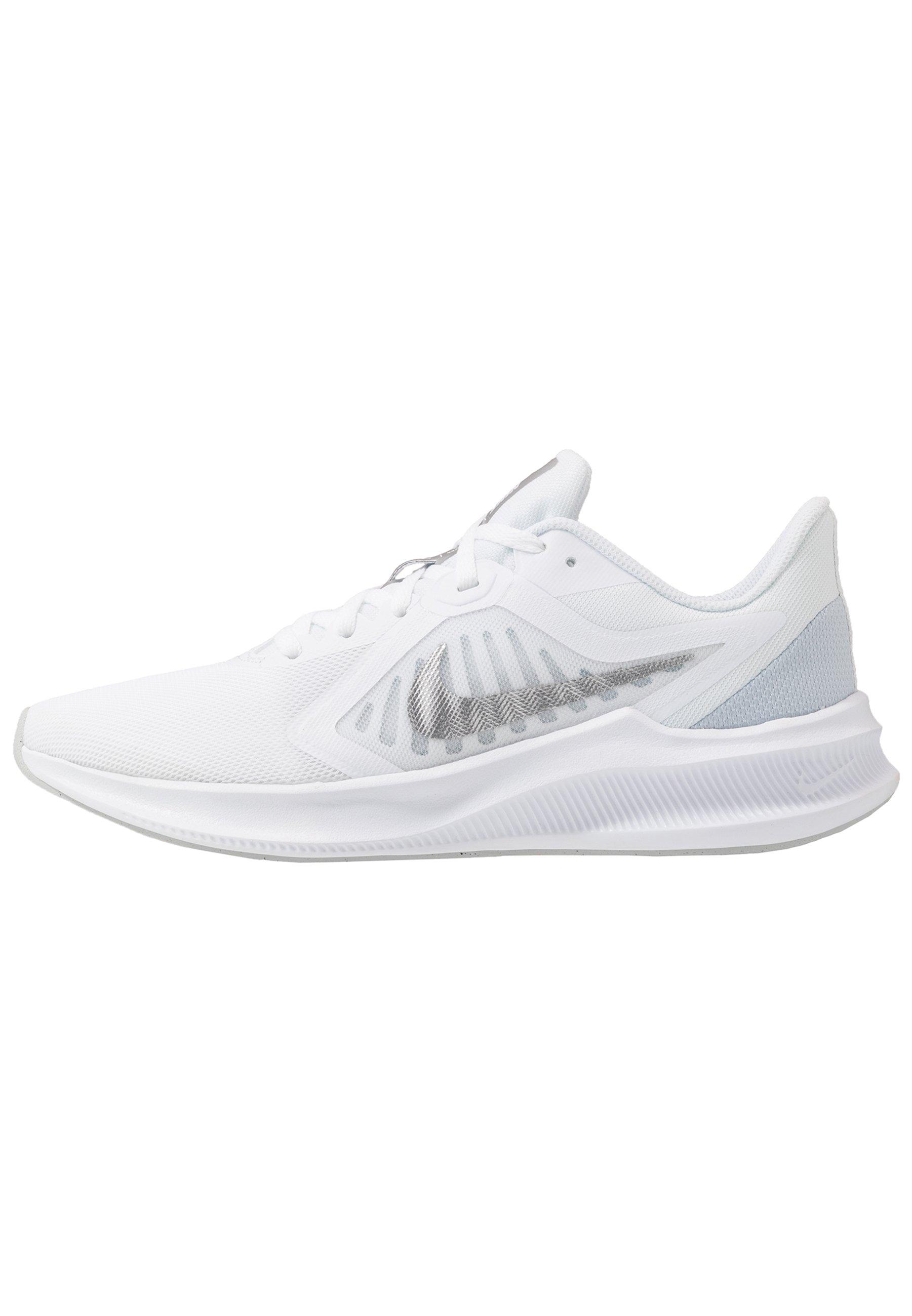 Nike Performance Downshifter 10 - Scarpe Running Neutre White/metallic Silver/pure Platinum 9OZZO