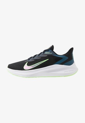 ZOOM WINFLO 7 - Neutral running shoes - black/vapor green/valerian blue