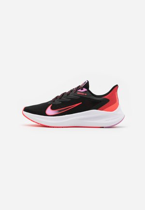 ZOOM WINFLO 7 - Obuwie do biegania treningowe - black/flash crimson/beyond pink