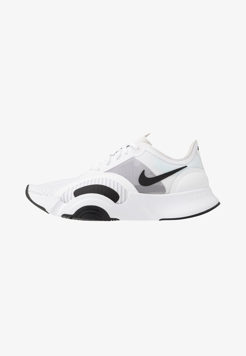Nike Performance - SUPERREP GO - Sports shoes - white/black