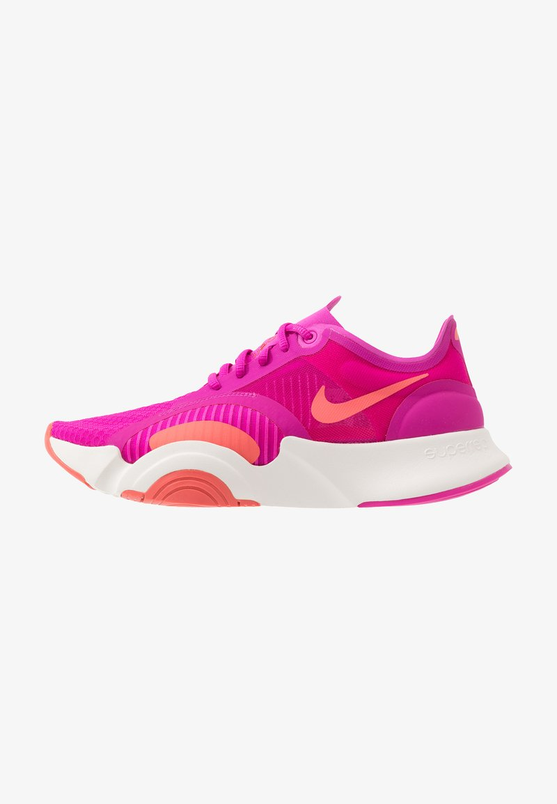 Nike Performance - SUPERREP GO - Obuwie treningowe - fire pink/magic ember/summit white