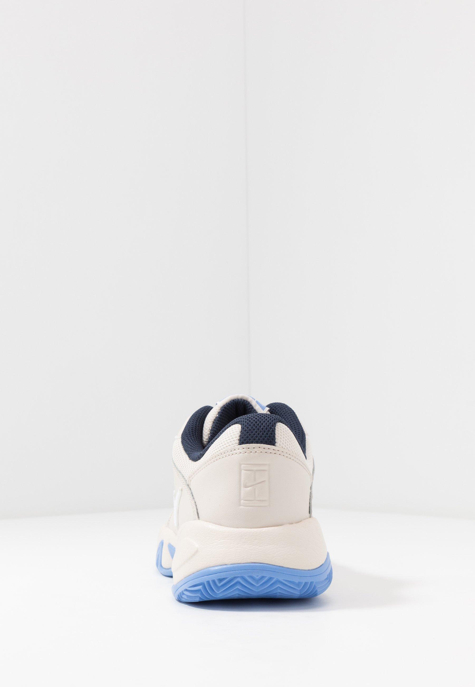 Nike Performance COURT LITE 2 CLAY - Tennisskor för grus - light orewood brown/white/royal pulse