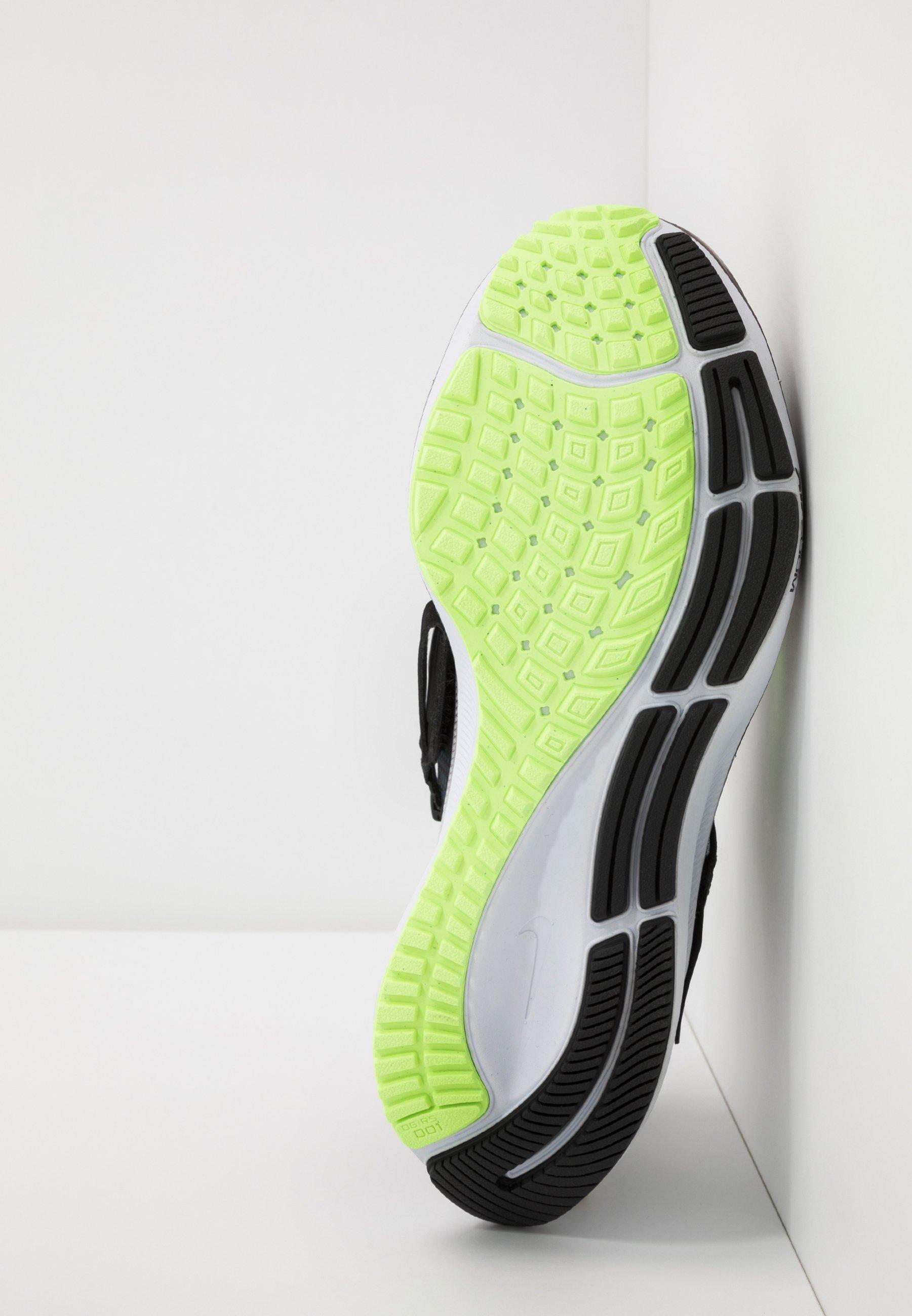 Nike Performance AIR ZOOM PEGASUS 37 FLYEASE - Zapatillas de running neutras - black/ghost green/valerian blue/spruce aura