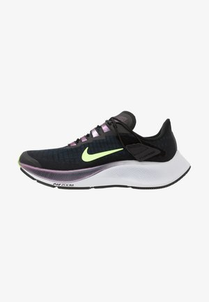 AIR ZOOM PEGASUS 37 FLYEASE - Neutral running shoes - black/ghost green/valerian blue/spruce aura