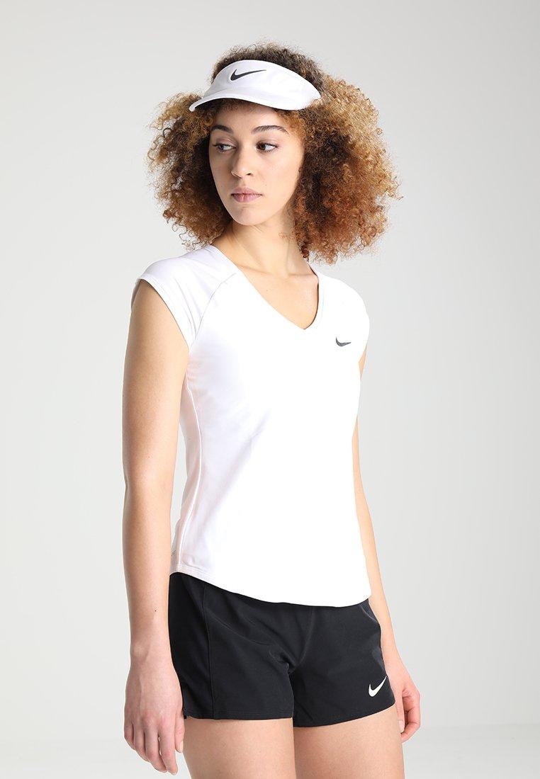 Nike Performance - PURE TENNIS - T-shirt - bas - blanc/noir