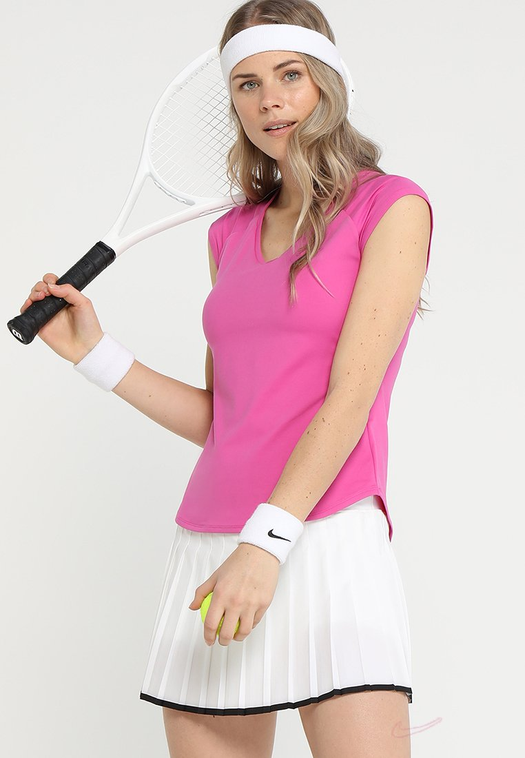 Nike Performance - PURE TENNIS - T-Shirt basic - active fuchsia