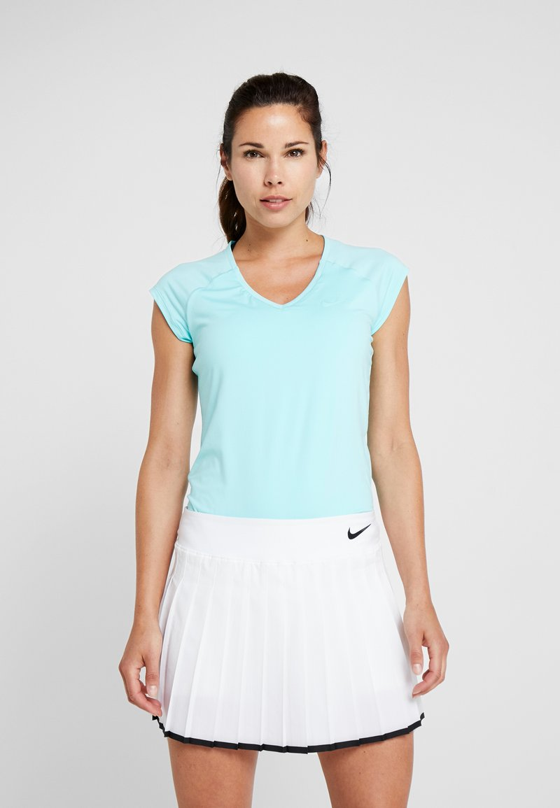 Nike Performance - PURE TENNIS - Jednoduché triko - light aqua