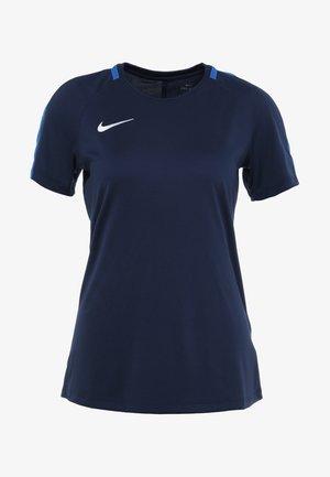 DRY - T-shirt med print - obsidian/royal blue/white