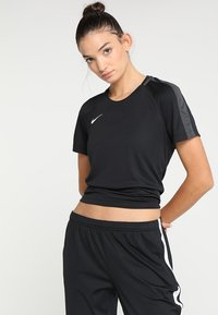 Nike Performance - DRY - T-shirt con stampa - black/anthracite/white - 0