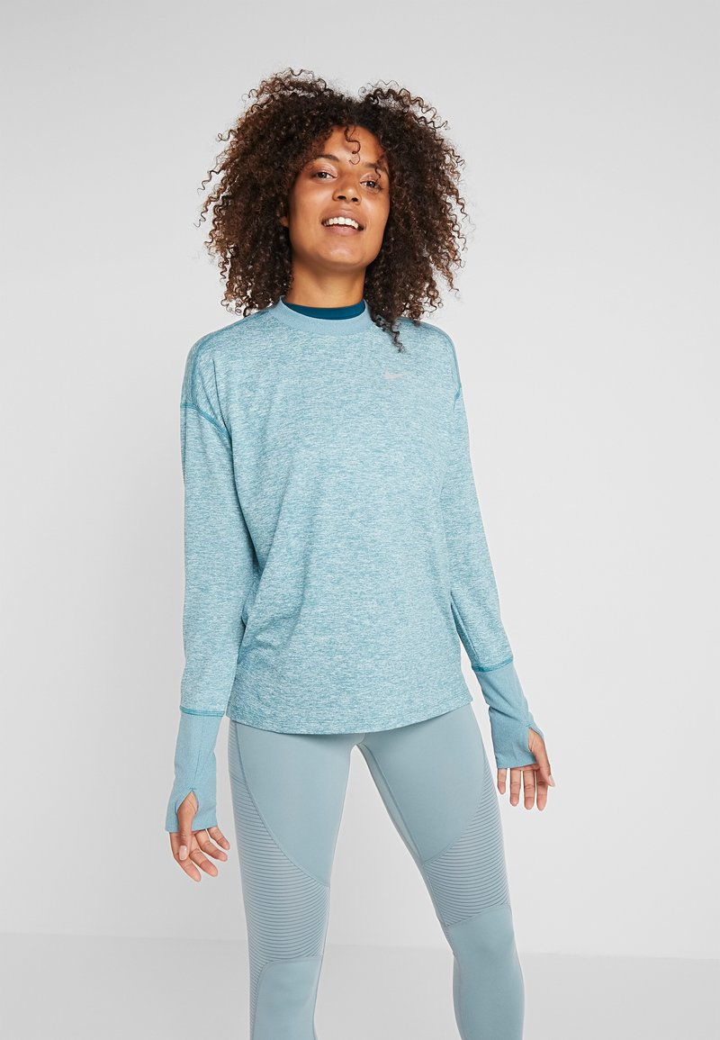Nike Performance - CREW - T-shirt de sport - mineral teal/heather/silver