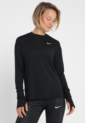 CREW - Sports shirt - black/reflective silver