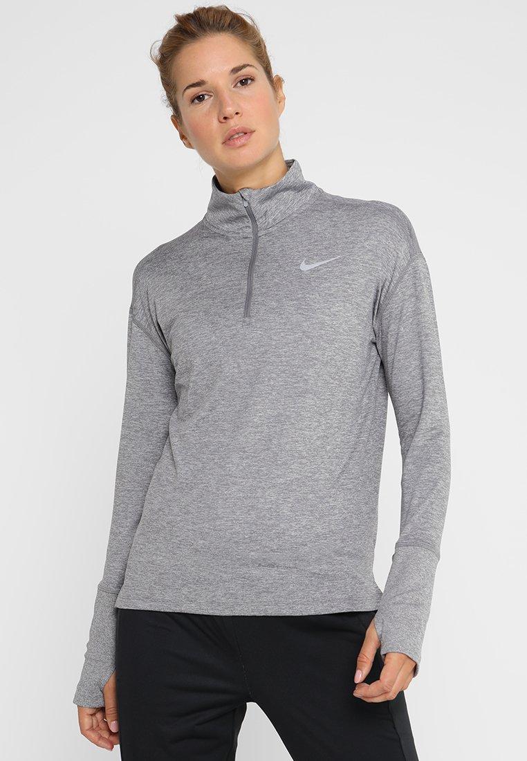Nike Performance - W NK ELMNT  - Funkční triko - gunsmoke/atmosphere grey/heather/reflective silver