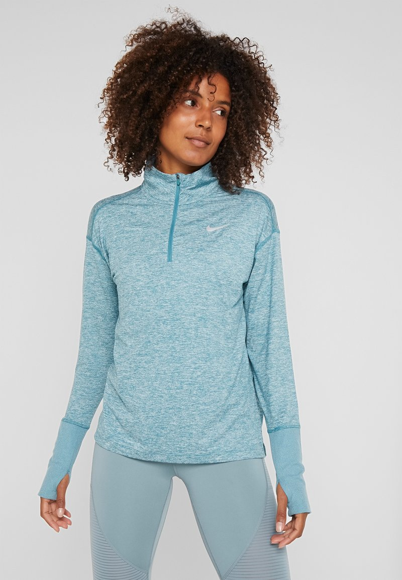 Nike Performance - Funkční triko - mineral teal/heather/reflective silver