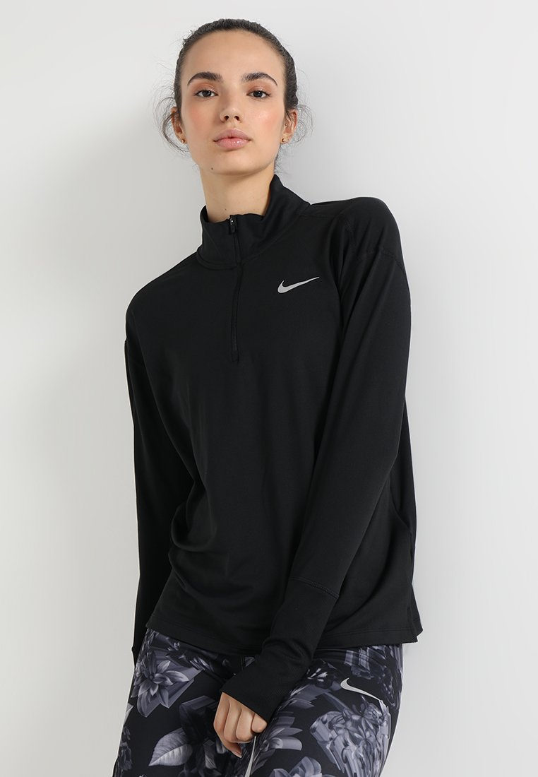 Nike Performance - Sports shirt - black/silver