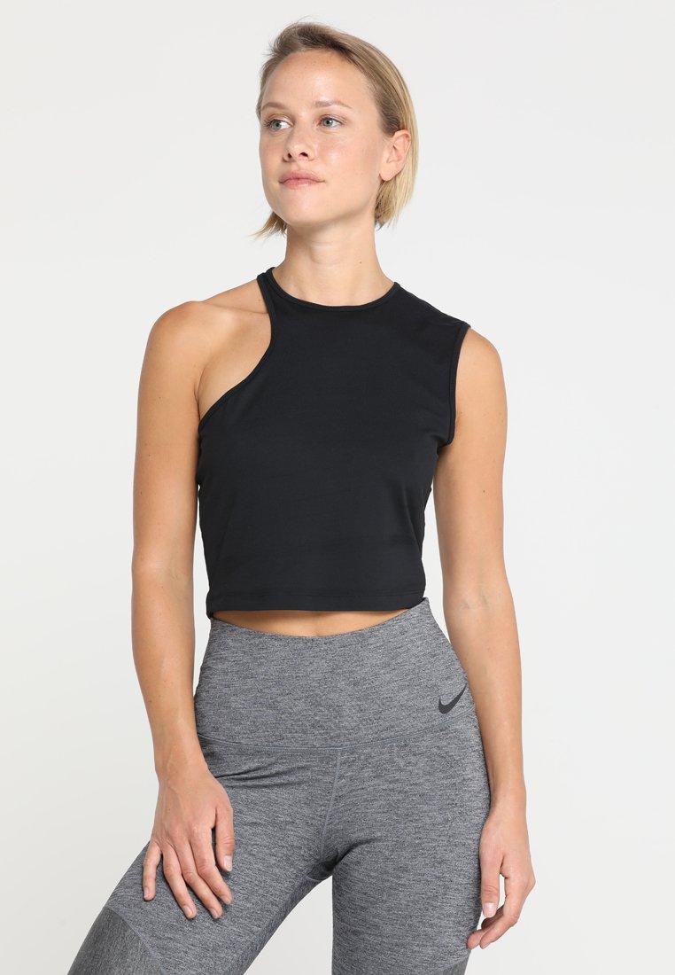 Nike Performance - YOGA ASYMETRICAL TANK - Sports shirt - black/black