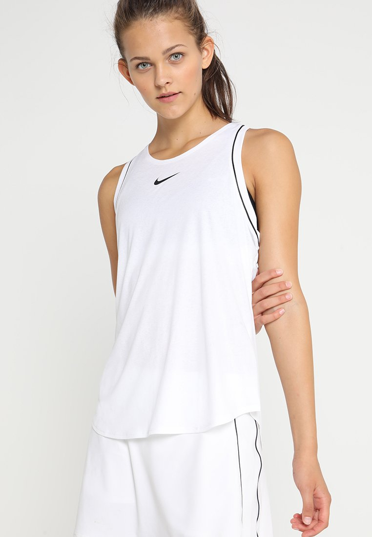 Nike Performance - DRY TANK - Funktionsshirt - white/black