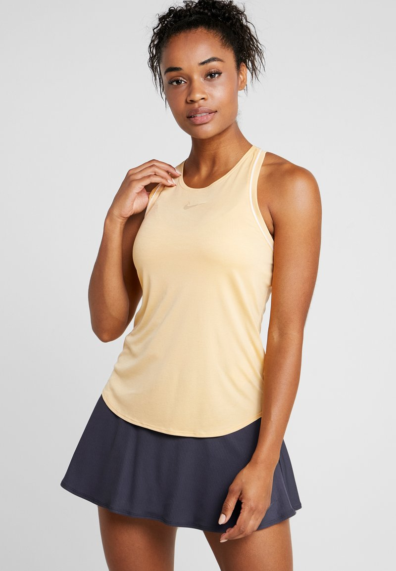 Nike Performance - DRY TANK - Funktionsshirt - celestial gold/white