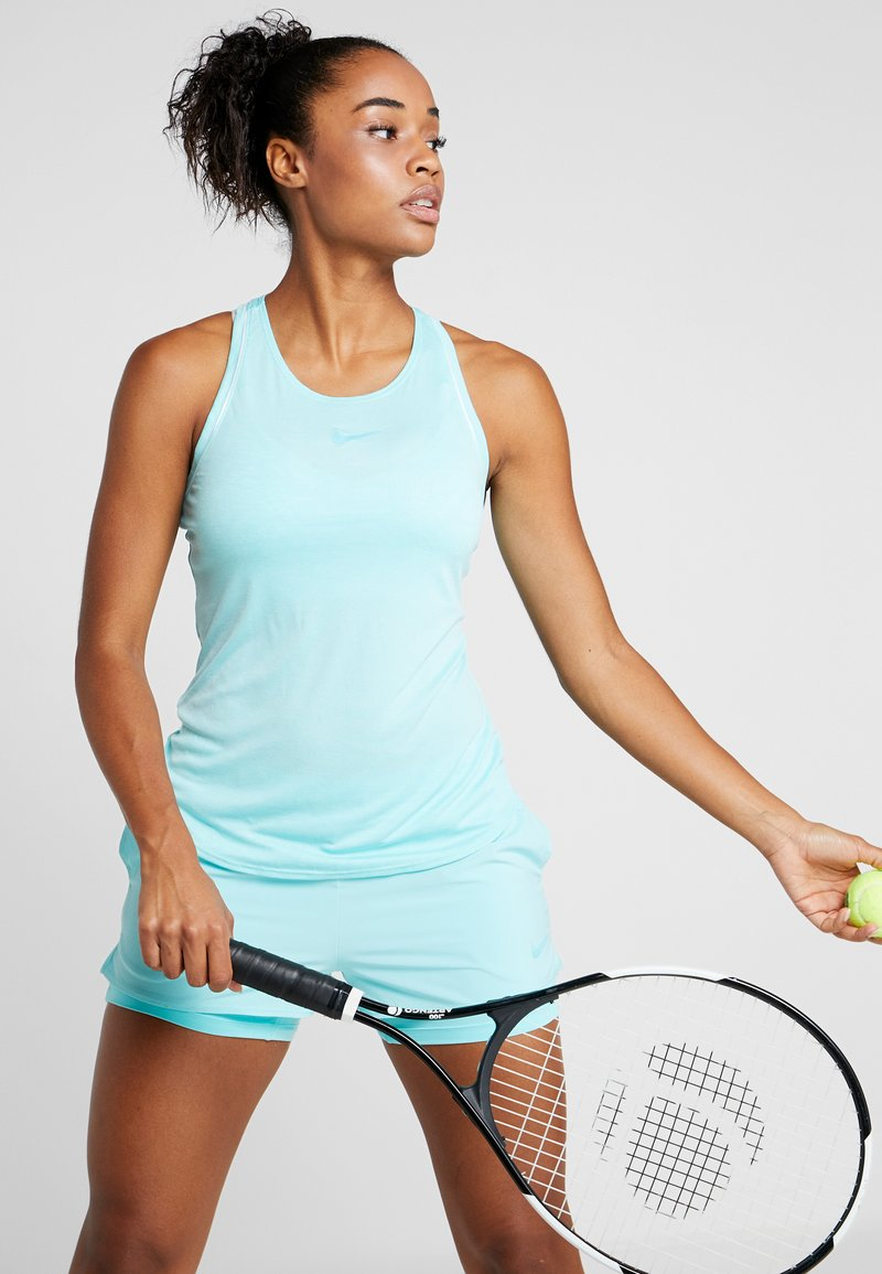 Nike Performance - DRY TANK - Sportshirt - light aqua/white