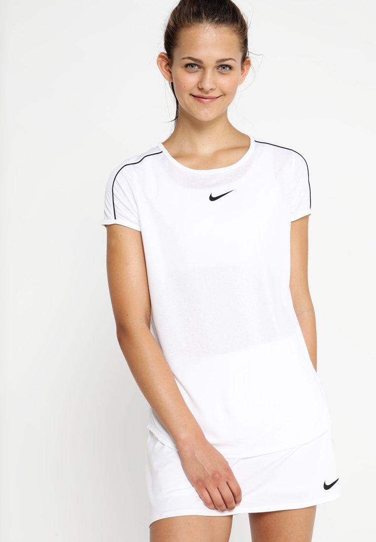 Nike Performance - DRY - Camiseta estampada - white/black
