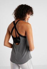 Nike Performance - DRY TANK ELASTIKA - T-shirt sportiva - dark grey/heather/black - 2