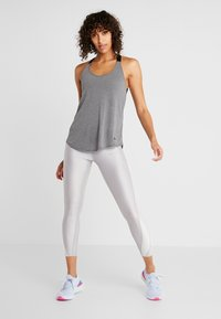 Nike Performance - DRY TANK ELASTIKA - T-shirt sportiva - dark grey/heather/black - 1