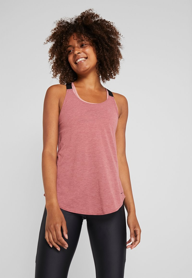 Nike Performance - DRY TANK ELASTIKA - T-shirt sportiva - cedar/heather/black