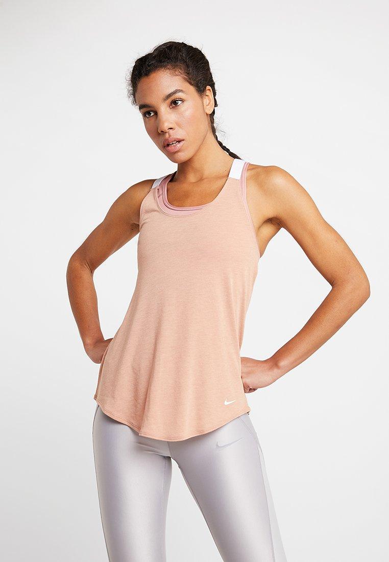 Nike Performance - DRY TANK ELASTIKA - Koszulka sportowa - rose gold/white