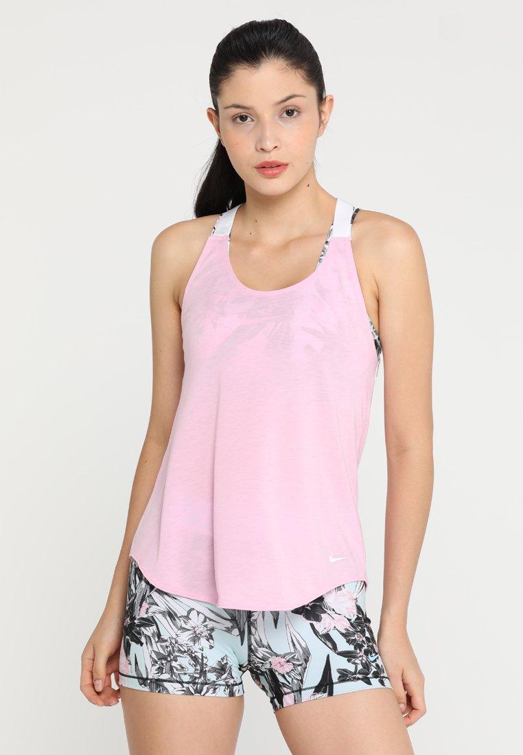 Nike Performance - DRY TANK ELASTIKA - Funktionsshirt - pink rise/white