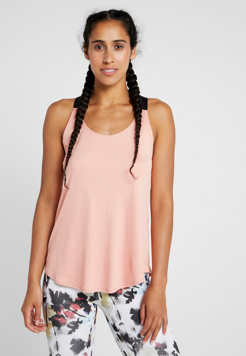 Nike Performance - DRY TANK ELASTIKA - T-shirt sportiva - pink quartz/black