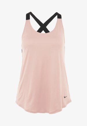 DRY TANK ELASTIKA - Sportshirt - pink quartz/black