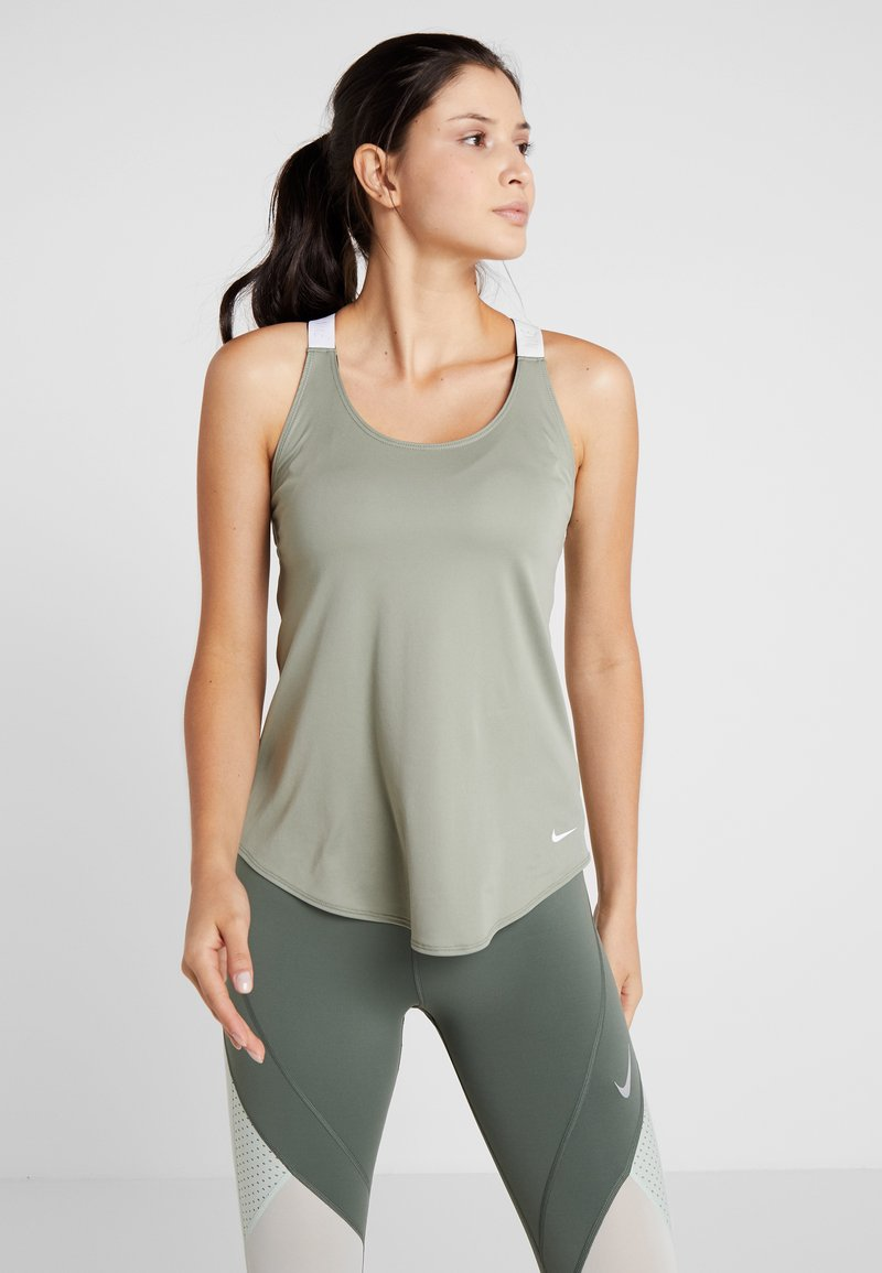 Nike Performance - DRY TANK ELASTIKA - Sports shirt - jade stone/white