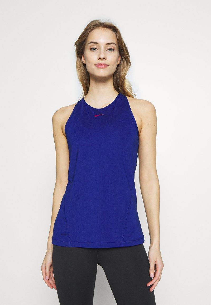 Nike Performance - TANK ALL OVER  - Sports shirt - deep royal blue