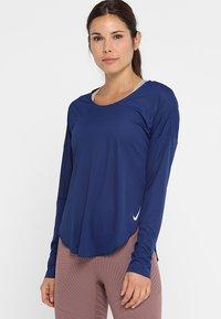 Nike Performance - CITY SLEEK - Treningsskjorter - blue void/silver - 0