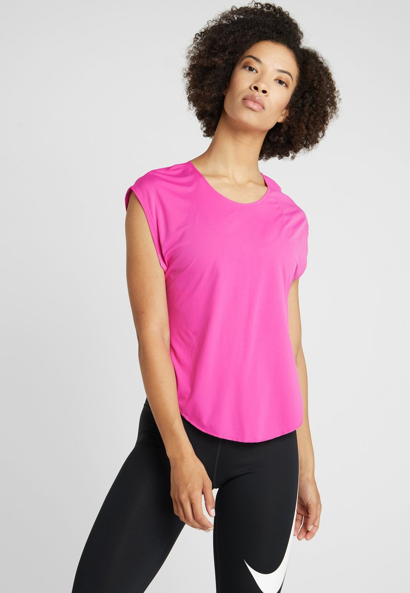 Nike Performance - CITY SLEEK - T-Shirt basic - active fuchsia/silver