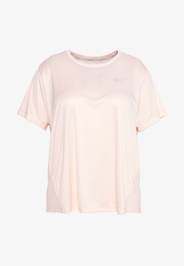 DRY MILER PLUS - T-shirts print - washed coral/reflective silver