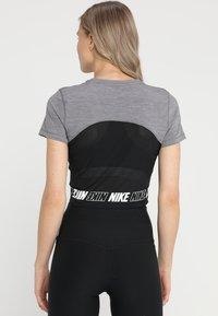 Nike Performance - ICON CLASH  TOP  - T-shirt print - gunsmoke/| heather/white - 2