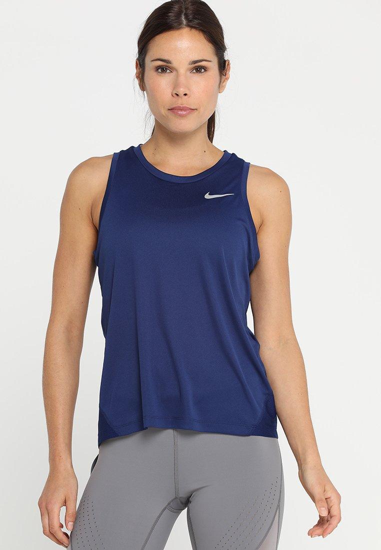 Nike Performance - MILER TANK - Funktionsshirt - blue void/reflective silver