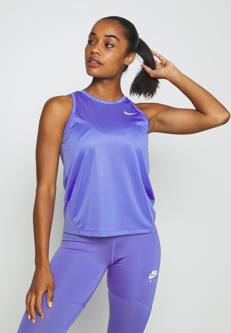 Nike Performance - MILER TANK - Sports shirt - sapphire/reflective silver