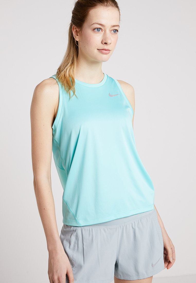 Nike Performance - MILER TANK - Funktionsshirt - tropical twist/reflective silver