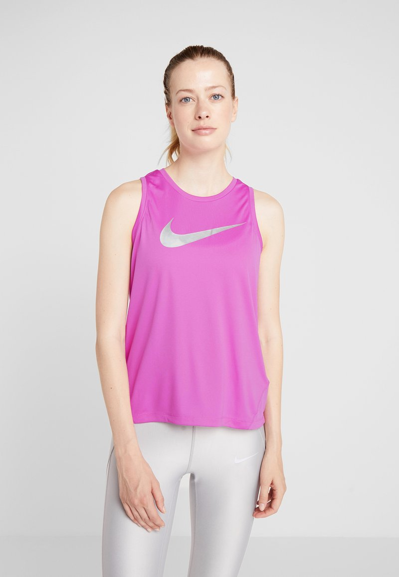 Nike Performance - MILER TANK - Funktionsshirt - active fuchsia/reflective silver