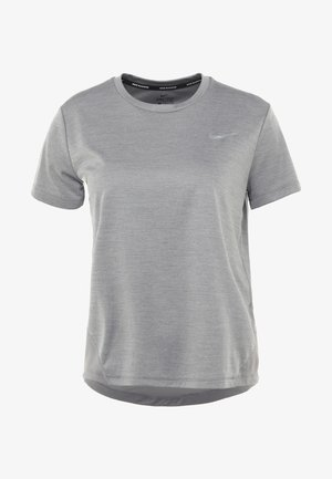 MILER  - T-shirt med print - gunsmoke/reflective silver