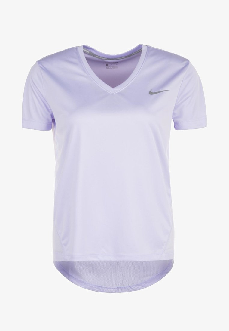 Nike Performance - MILER V NECK - Sports shirt - lilac