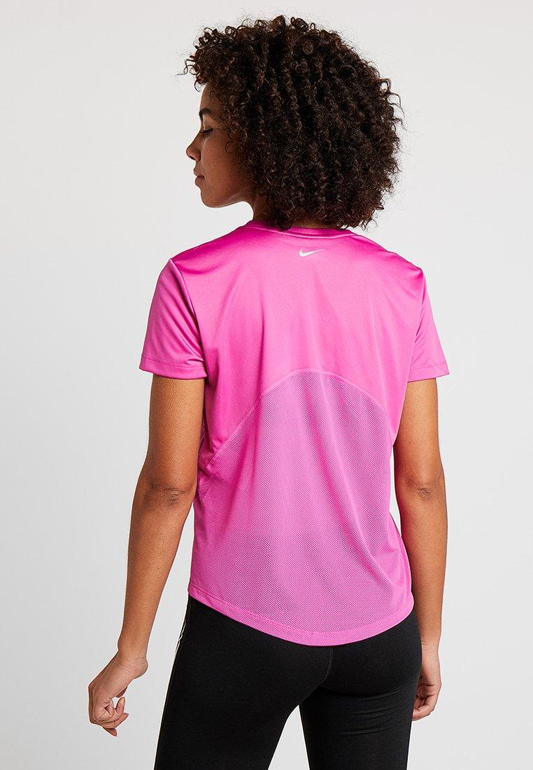 Sport Miler Active Silver Nike NeckT V shirt De Fuchsia Performance reflective wOPnk80X