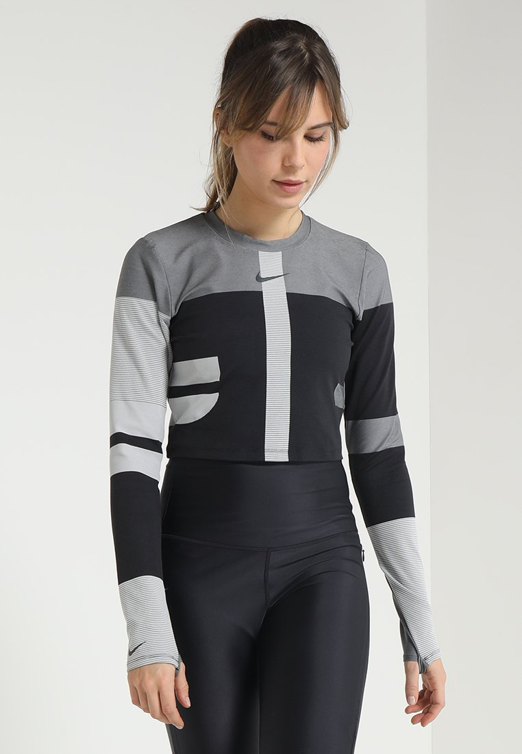 Nike Performance - TECH PACK RUNNING LONG SLEEVE TOP - Långärmad tröja - oil grey/vast grey/silver