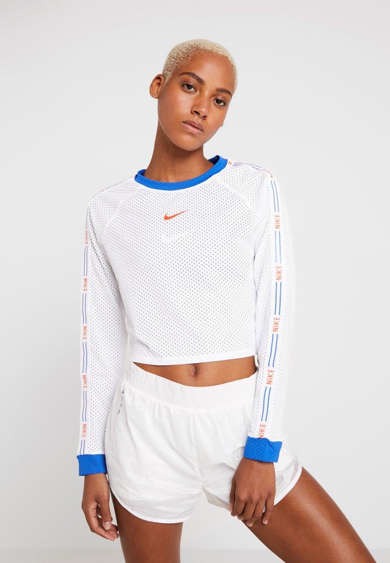 Nike Performance - HYPERFLORA CROPPED LONG SLEEVE  - Funktionsshirt - white/game royal/team orange