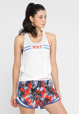 HYPERFLORA MILER TANK - Camiseta de deporte - white/team orange