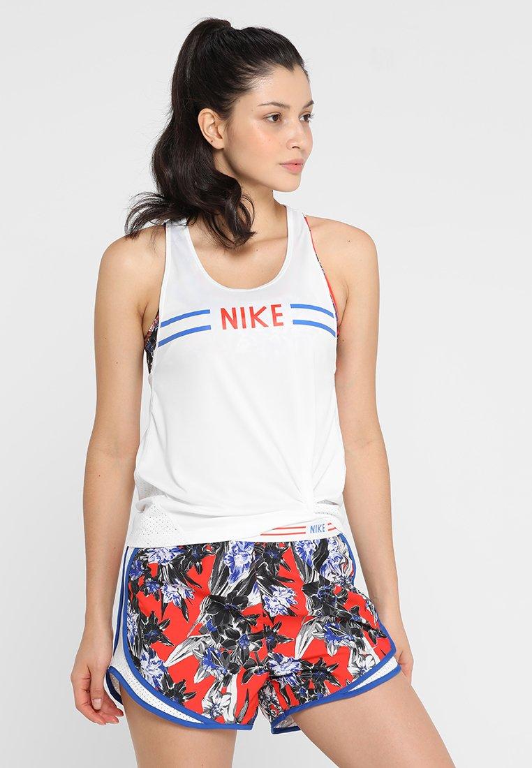 Nike Performance - HYPERFLORA MILER TANK - T-shirt de sport - white/team orange